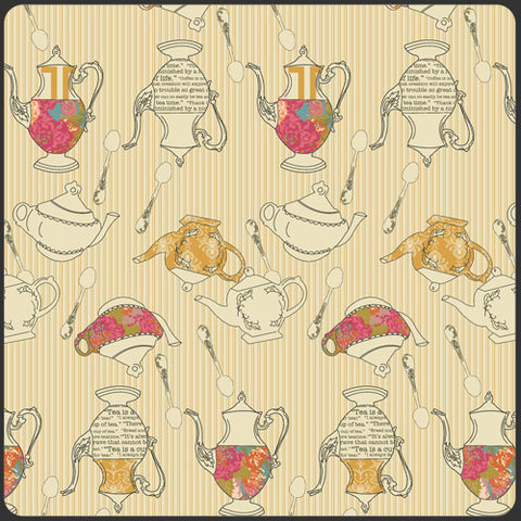 Tea Delights Honey cotton woven quilting fabric by Art Gallery Fabrics