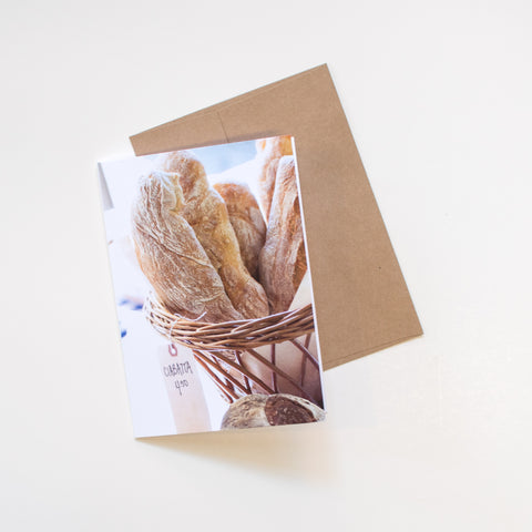 """Ciabatta"" Greeting Card"