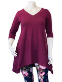 Madison Tunic in Cranberry