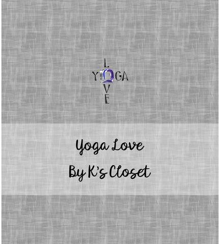 Yoga Love, fabric panel, preorder