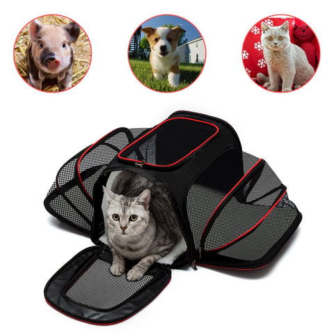 Pet Carrier, Airline Approved Pet Carrier Dog Puppy Carriers, Dog Travel Bag for small Dog & Cats