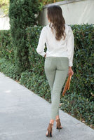 Stretch Crinkle Moto Pant