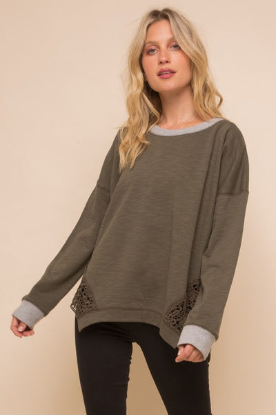 French Terry Slub Top