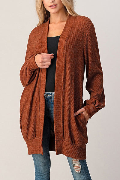 Brushed Rib Cozy Cardigan