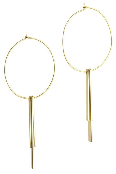 Dangle Bar Hoops