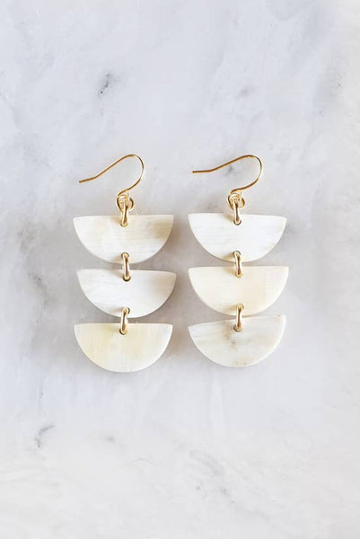 3 Crescent Horn Earrings