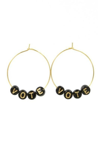 Vote Beaded Hoops