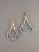 Crescent Mix Metal Earrings