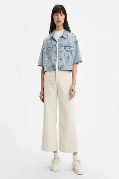WellThread Ribcage Wide Leg Crop Jeans