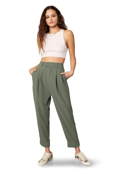 High Waist Crop Trousers