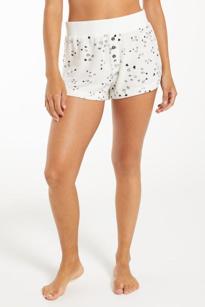 Heart Print Lounge Short