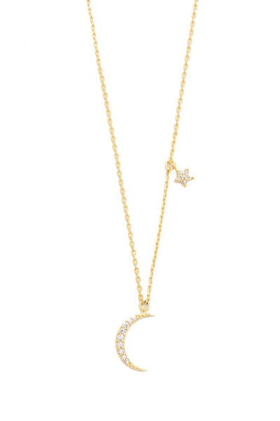 Cresent Moon Star Necklace
