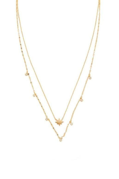 Double Strand Star Necklace