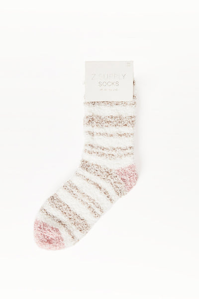 Stripe Plush Socks