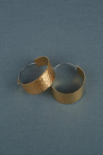 Hammered Small Hoops