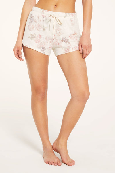 Knit Floral Lounge Short