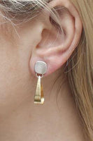 Rounded Square Loop Earrings