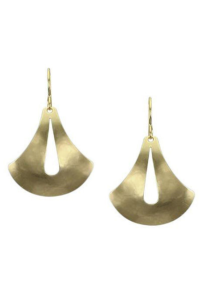 Domed Cutout Teardrop Earrings