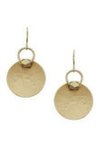 Disc with Mini Cube Earrings