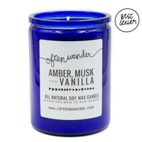 Amber, Musk and Vanilla Signature Candle