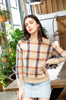Plaid Mohair Sweater