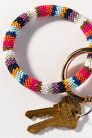 Seed Bead Key Ring Bracelet