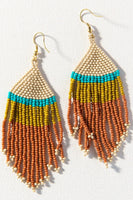 Stripe Seed Bead Earrings