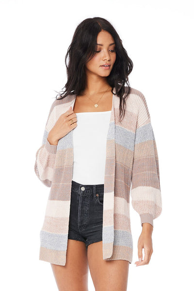 Neutral Stripe Cardigan