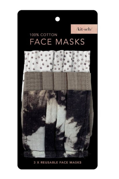 Neutral Cotton Mask 3pc Set