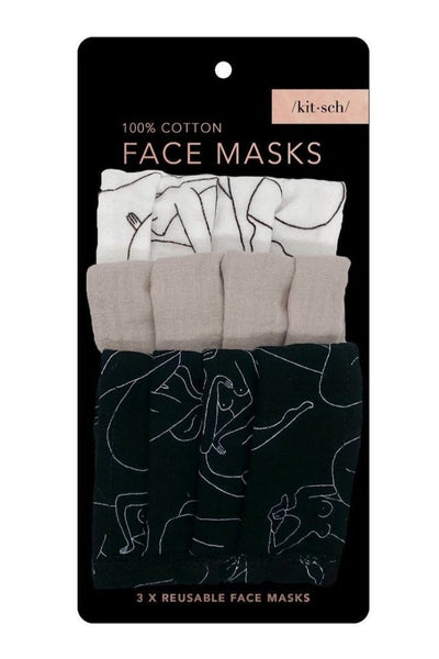 Body Positive Cotton Mask 3pc Set