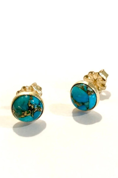 Large Turquoise Stud Earrings