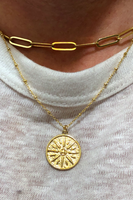 Raze Sunburst Coin Necklace