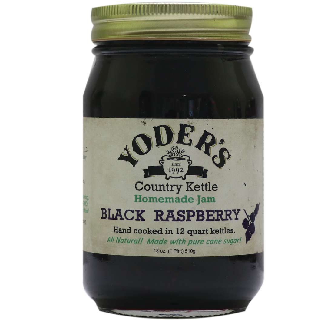 18oz (Pint) Yoder's Black Raspberry Jam