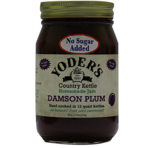18oz (Pint) Yoder's No Sugar Added Damson Plum Jam