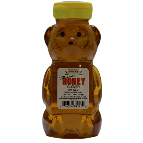 12oz Yoder's Clover Honey Bear
