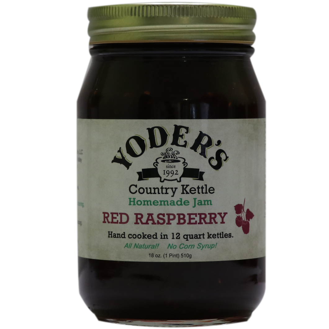 18oz (Pint) Yoder's Red Raspberry Jam