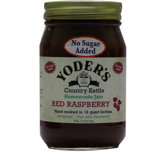 18oz (Pint) Yoder's No Sugar Added Red Raspberry Jam