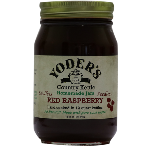 18oz (Pint) Yoder's Seedless Red Raspberry Jam