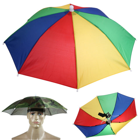 FREE - Hands Free Portable  Usefull Umbrella Hat