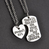Family Gifts Heart Love Keychain and  Necklace