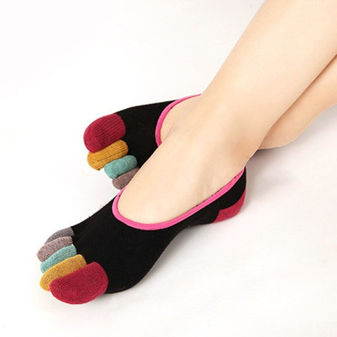 Women Ankle Socks Casual Exercise Five Fingers Socks Non Slip