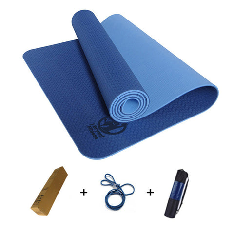 183x61x0.6cm None-Slip Yoga Mat TPE with Bag and Rope