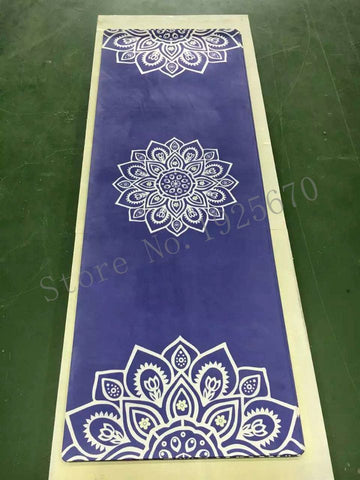 White lotus Natural Rubber eco-friendly slip-resistant Hot Yoga mat