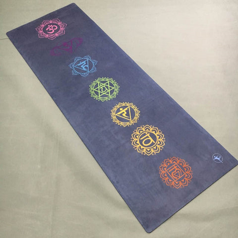 Yoga mat 7 coulorful round suede skin Natural Rubber eco-friendly slip-resistan