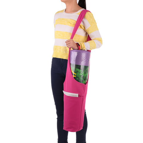 Yoga Mat Carrier Bag Sling Carrier Large Side Pocket Zipper