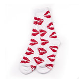 Hot Sale  Kiss Lips Long Socks for Couple - Valentine Gift