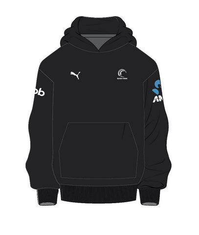 Sliver Ferns Youth Sponsor Hoody Black