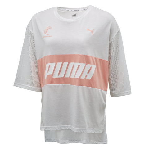 Puma Silver Ferns Style T-Shirt (White/Peach)