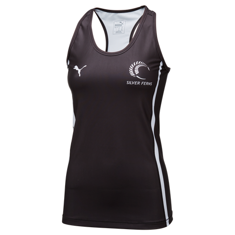 Puma Silver Ferns Training Singlet Black/White