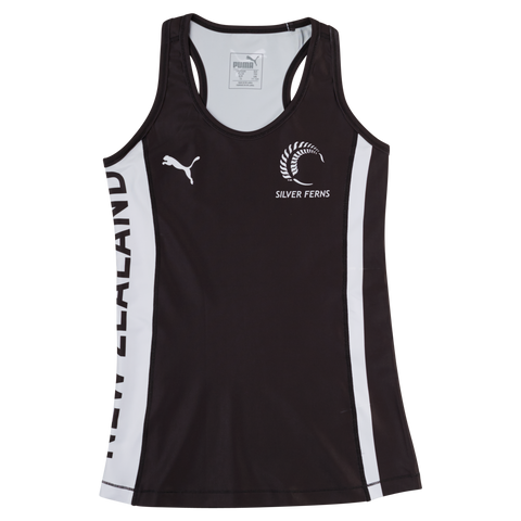 Puma Silver Ferns Youth Training Singlet Black/White